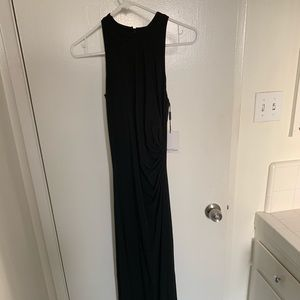 Black floor length Calvin Klein gown